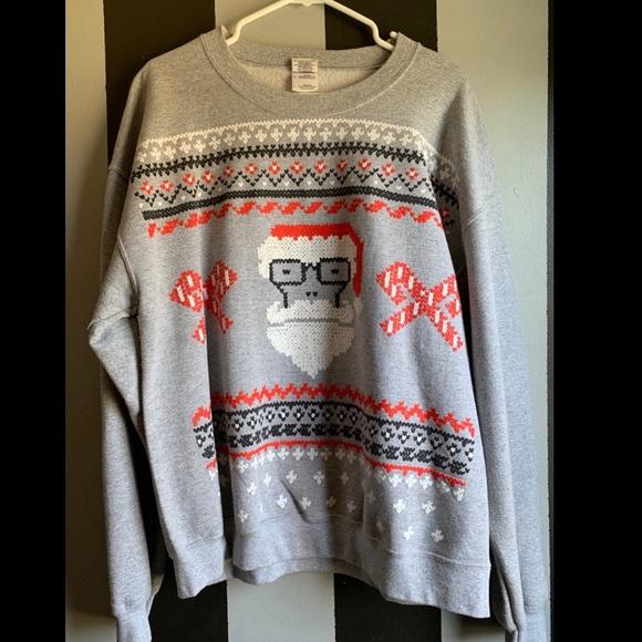 """Descendents """"ugly Christmas sweater"""" sweatshirt."""